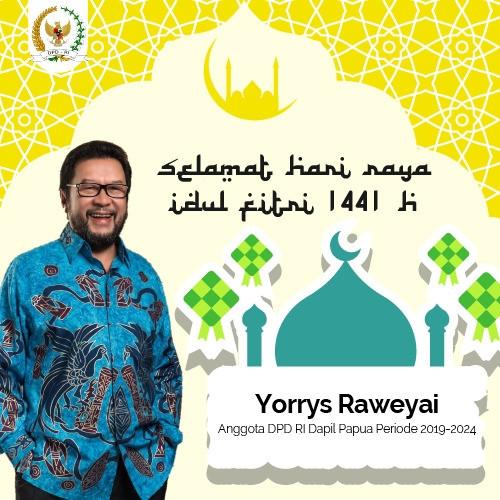 Idul Fitri 1441H Yorrys Raweyai