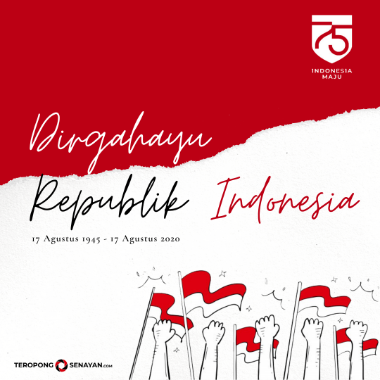 Banner HUT RI Ke-75 TeropongSenayan.com