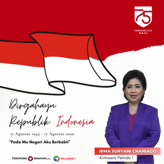 Banner HUT RI Ke-75 Irma Suryani Chaniago