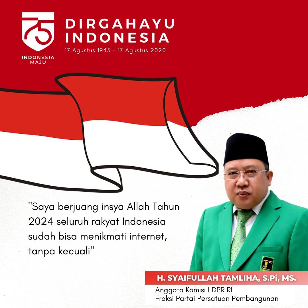 Banner HUT RI Ke-75 Syaifullah Tamliha